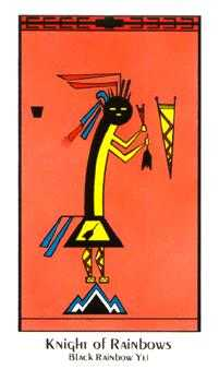 Knight of Rainbows Tarot Card - Santa Fe Tarot Deck
