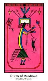 Queen of Rainbows Tarot Card - Santa Fe Tarot Deck