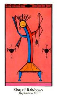King of Rainbows Tarot Card - Santa Fe Tarot Deck