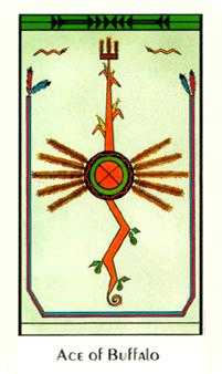 Ace of Pentacles Tarot Card - Santa Fe Tarot Deck