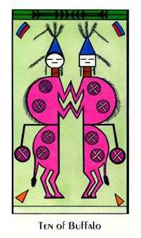 Ten of Coins Tarot Card - Santa Fe Tarot Deck