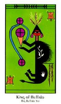 King of Buffalo Tarot Card - Santa Fe Tarot Deck