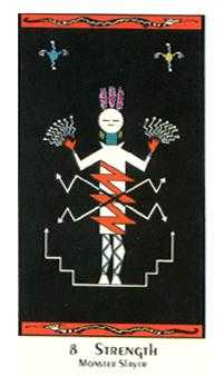 Strength Tarot Card - Santa Fe Tarot Deck