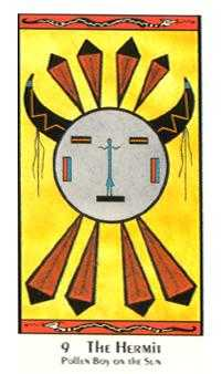 The Hermit Tarot Card - Santa Fe Tarot Deck