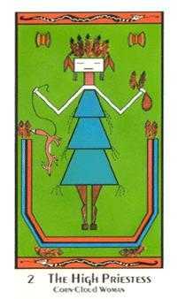 The High Priestess Tarot Card - Santa Fe Tarot Deck