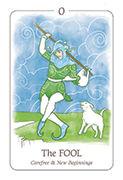 The Fool Tarot card in Simplicity deck