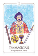 The Magician Tarot card in Simplicity deck