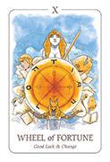 Wheel of Fortune Tarot card in Simplicity deck