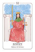 Justice Tarot card in Simplicity deck