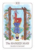 The Hanged Man Tarot card in Simplicity deck