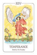 Temperance Tarot card in Simplicity deck