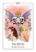 The Devil Tarot card in Simplicity deck