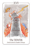 The Tower Tarot card in Simplicity deck