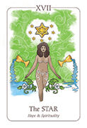 The Star Tarot card in Simplicity deck