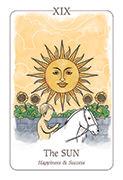 The Sun Tarot card in Simplicity deck