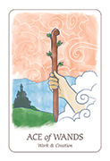 Ace of Wands Tarot card in Simplicity deck