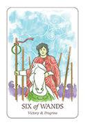 Six of Wands Tarot card in Simplicity deck