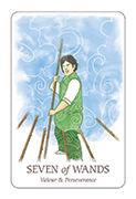 Seven of Wands Tarot card in Simplicity deck