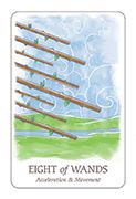 Eight of Wands Tarot card in Simplicity deck