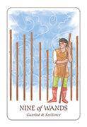 Nine of Wands Tarot card in Simplicity deck
