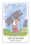 Ten of Wands Tarot card in Simplicity deck