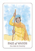 Page of Wands Tarot card in Simplicity deck