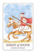 Knight of Wands Tarot card in Simplicity deck