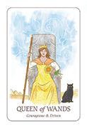 Queen of Wands Tarot card in Simplicity deck