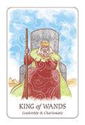 King of Wands Tarot card in Simplicity deck