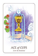 Ace of Cups Tarot card in Simplicity deck