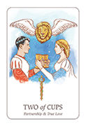 Two of Cups Tarot card in Simplicity deck