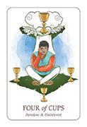 Four of Cups Tarot card in Simplicity deck