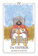 The Emperor Tarot card in Simplicity deck