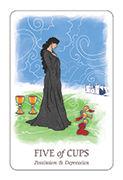 Five of Cups Tarot card in Simplicity deck