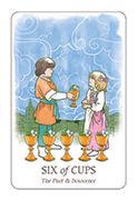 Six of Cups Tarot card in Simplicity deck