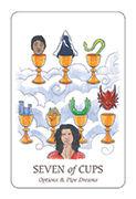Seven of Cups Tarot card in Simplicity deck