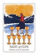 Eight of Cups Tarot card in Simplicity deck