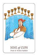 Nine of Cups Tarot card in Simplicity deck