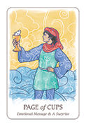 Page of Cups Tarot card in Simplicity deck