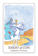 Knight of Cups Tarot card in Simplicity deck