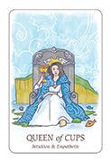 Queen of Cups Tarot card in Simplicity deck