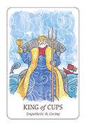 King of Cups Tarot card in Simplicity deck