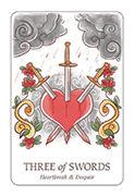 Three of Swords Tarot card in Simplicity deck