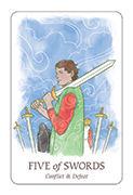 Five of Swords Tarot card in Simplicity deck