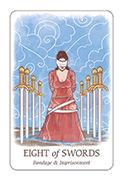 Eight of Swords Tarot card in Simplicity deck
