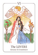 The Lovers Tarot card in Simplicity deck