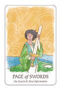 Page of Swords Tarot card in Simplicity deck