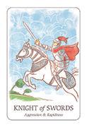Knight of Swords Tarot card in Simplicity deck