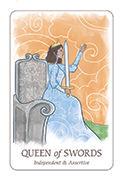 Queen of Swords Tarot card in Simplicity deck