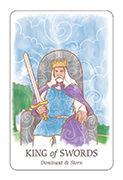 King of Swords Tarot card in Simplicity deck